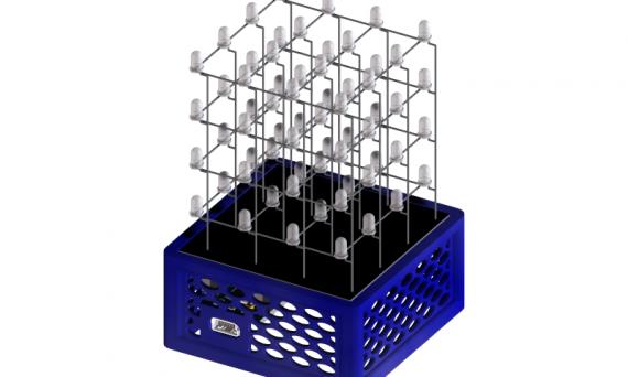 3d model led kubus